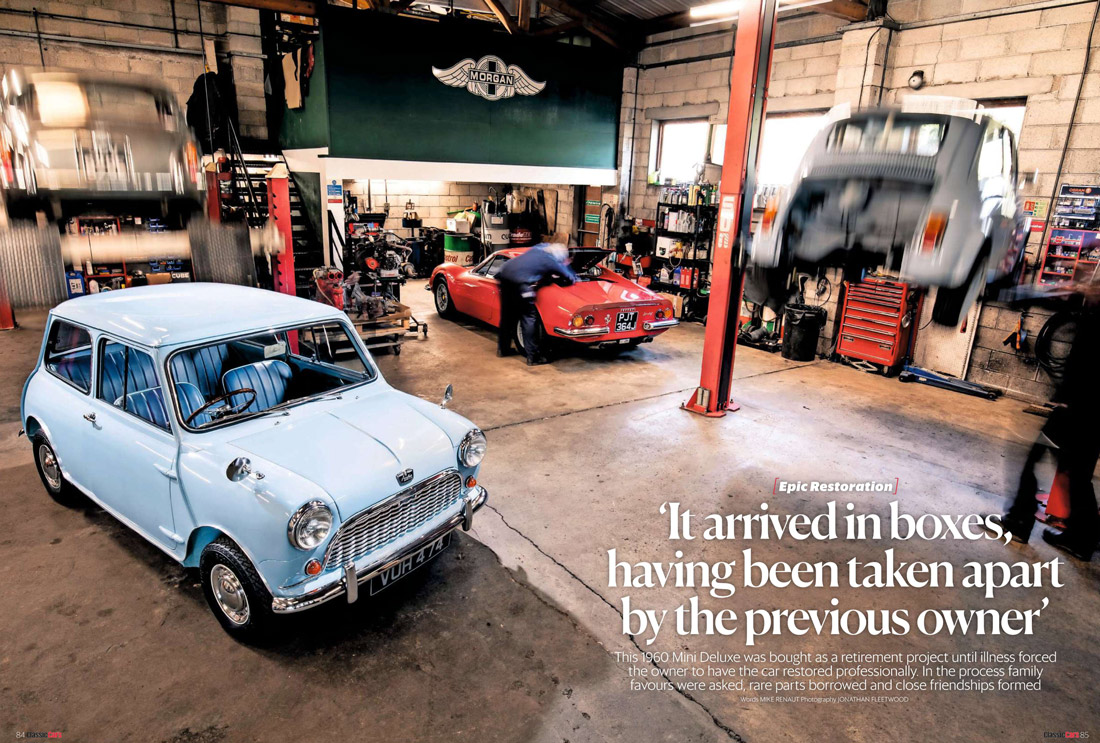Classic Cars Perranwell Garage Mini restoration