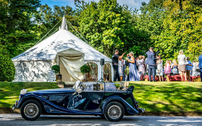 Morgan 4 Seater Wedding Car